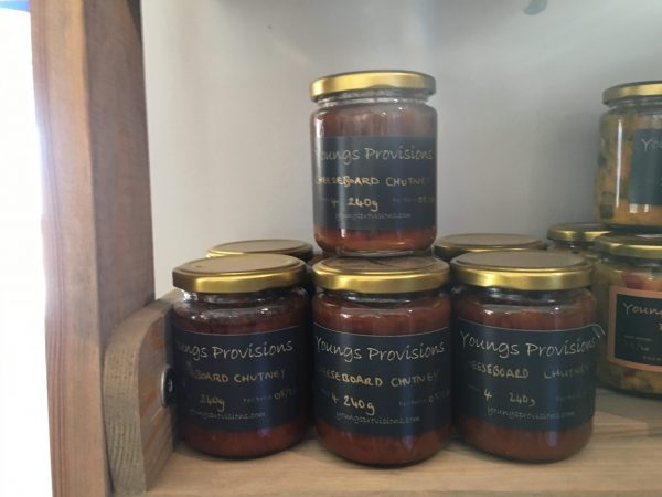 Youngs Provisions Cheeseboard Chutney farm shop shelf
